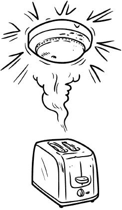 smoke alarm and toaster